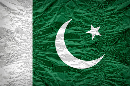 dazzlingly: Pakistan flag pattern overlay on floyd of candy shell, vintage border style Stock Photo