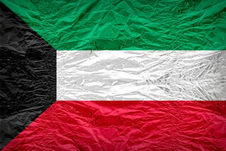 dazzlingly: Kuwait flag pattern overlay on floyd of candy shell, vintage border style