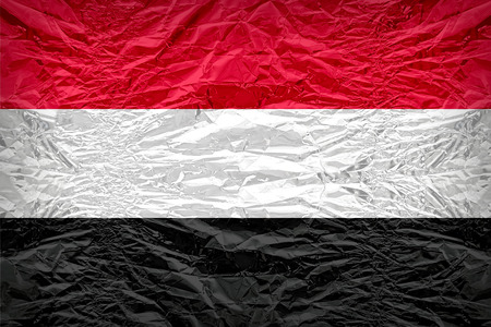 dazzlingly: Yemen flag pattern overlay on floyd of candy shell, vintage border style