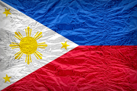 dazzlingly: Philippines flag pattern overlay on floyd of candy shell, vintage border style
