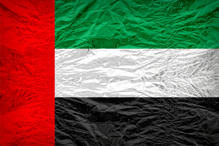 The United Arab Emirates flag pattern overlay on floyd of candy shell, vintage border style