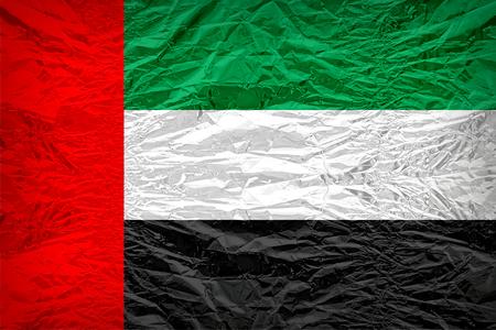 dazzlingly: The United Arab Emirates flag pattern overlay on floyd of candy shell, vintage border style