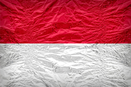 dazzlingly: Indonesia flag pattern overlay on floyd of candy shell, vintage border style
