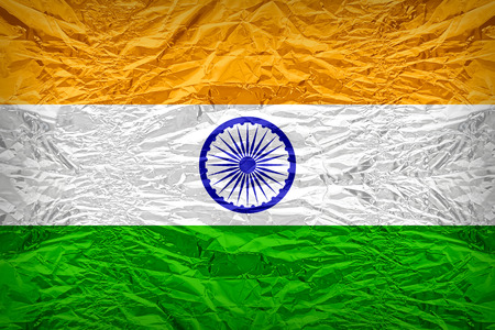 dazzlingly: India flag pattern overlay on floyd of candy shell, vintage border style