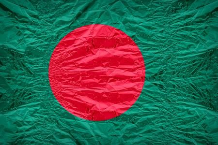 dazzlingly: Bangladesh flag pattern overlay on floyd of candy shell, vintage border style Stock Photo
