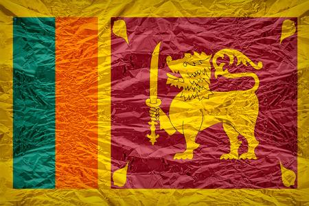 dazzlingly: Sri Lanka flag pattern overlay on floyd of candy shell, vintage border style Stock Photo