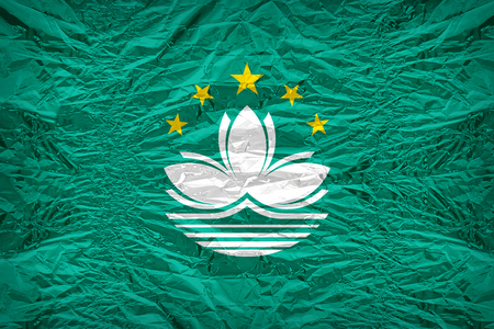 dazzlingly: Macau flag pattern overlay on floyd of candy shell, vintage border style