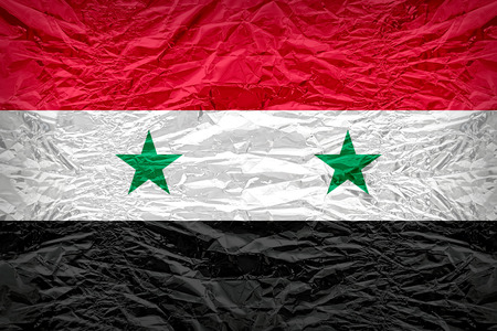 dazzlingly: Syria flag pattern overlay on floyd of candy shell, vintage border style