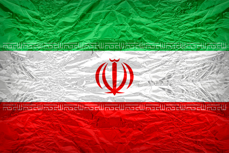 dazzlingly: Iran flag pattern overlay on floyd of candy shell, vintage border style Stock Photo