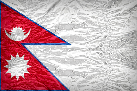 dazzlingly: Nepal flag pattern overlay on floyd of candy shell, vintage border style