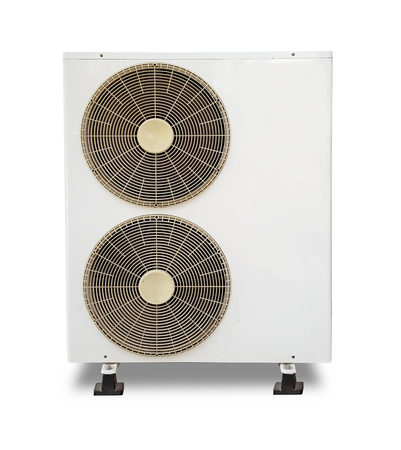 compresor: compresor de aire sobre fondo blanco