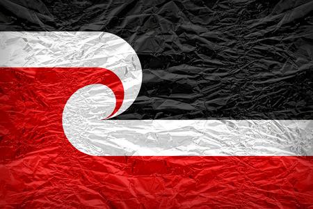 sovereignty: Tino_Rangatiratanga Maori Sovereignty Movement flag pattern overlay on floyd of candy shell, vintage border style