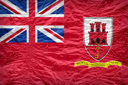 Civil Ensign of Gibraltar flag pattern overlay on floyd of candy shell