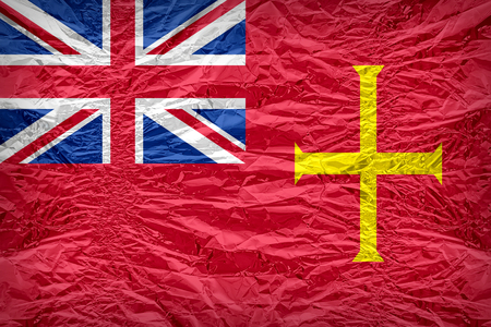 ensign: Civil Ensign of Guernsey flag pattern overlay on floyd of candy shell