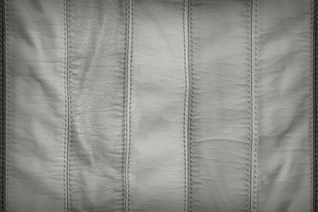 leatherette: Gray synthetic leather texture Stock Photo