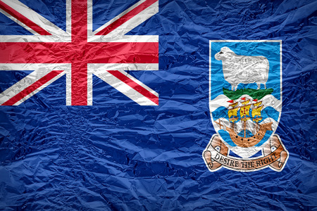 floyd: Falkland Islands flag pattern overlay on floyd of candy shell Stock Photo