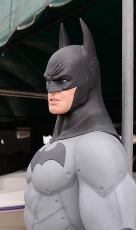 batman: AYUTTAYA,THAILAND - MAY 23, 2015 : Batman model at Thung Bua Chom floating market