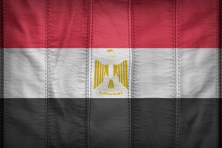 bandera egipto: Egypt flag pattern on synthetic leather texture