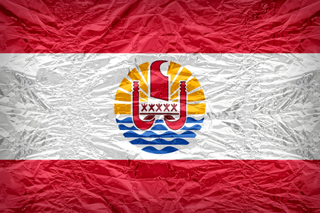 floyd: French Polynesia flag pattern overlay on floyd of candy shell Stock Photo