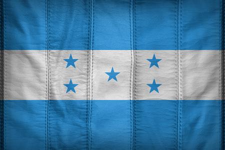bandera honduras: Honduras modelo de la bandera en la textura de cuero sintético