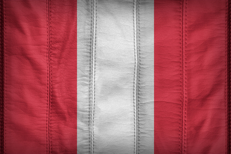 american flags: Peru flag pattern on synthetic leather texture