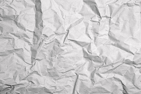 packing paper: crumpled white packing paper Stock Photo