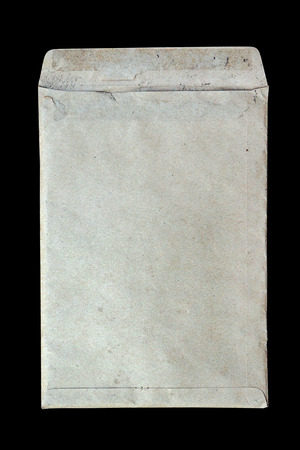 old envelope: old dirty envelope on black background