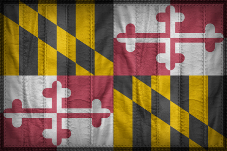 maryland flag: Maryland flag pattern on synthetic leather texture