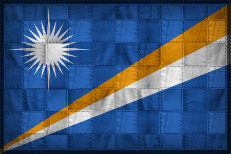 Marshall Islands flag pattern on synthetic leather texture