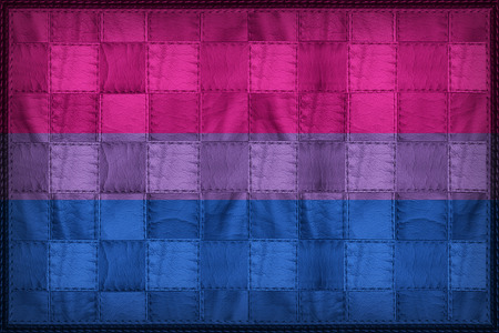 Bisexual flag pattern on synthetic leather texture