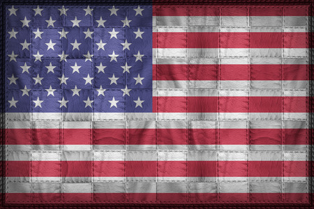 United States flag pattern on synthetic leather texture Stock Photo