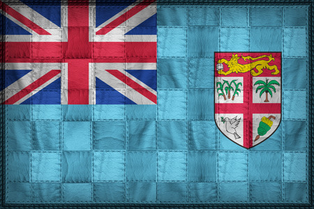 Fiji flag pattern on synthetic leather texture