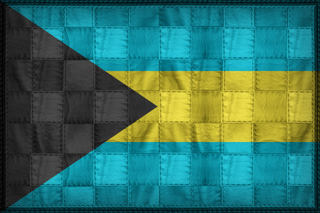 Bahamas flag pattern on synthetic leather texture