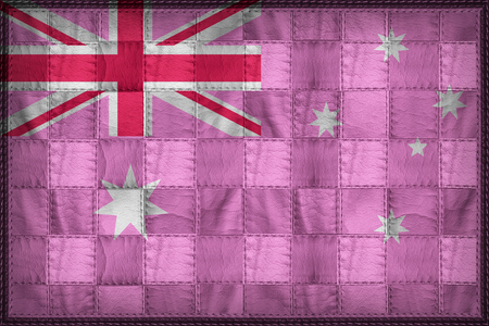 Australia Pride flag pattern on synthetic leather texture