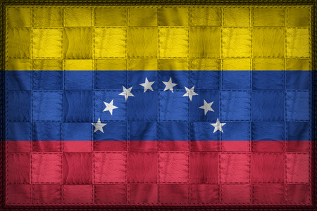 Venezuela flag pattern on synthetic leather texture