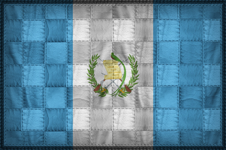 Guatemala flag pattern on synthetic leather texture