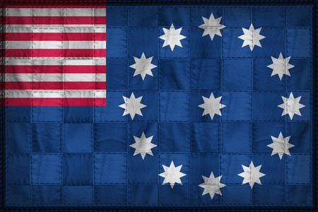 retrospective: Easton flag pattern on synthetic leather texture Stock Photo