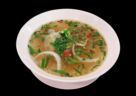 Spicy & sour chicken soup, Muslim style Stock Photo