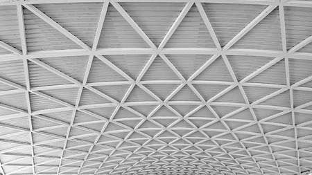 Roof structure made of steel