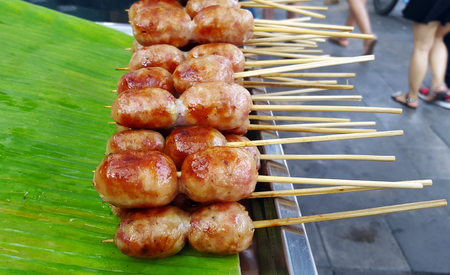 Thai sausage grill, Its a kind of street food of Thailand