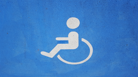 sign for wheelchair Stock Photo