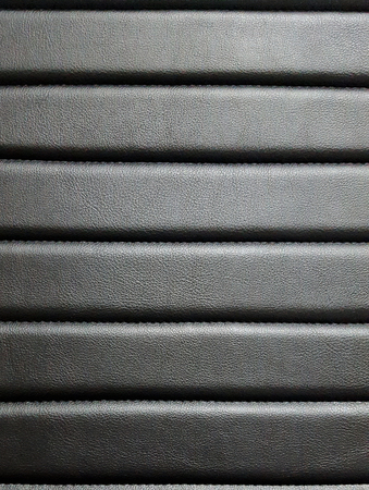 pattern of a black leather seat