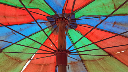 under umbrella view 免版税图像