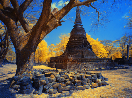 Si Satchanalai Historical Park, Sukhotha Provincei, Thailand Taken in Near Infrared