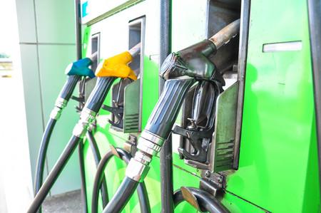 fuel pumps: fuel pumps at a gas station