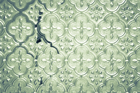 stained glass panel: patterned glass background
