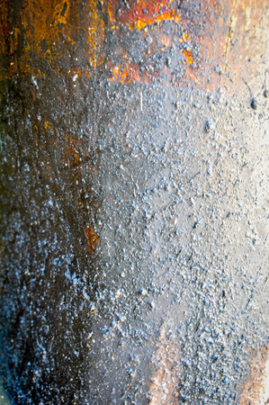 emulate: Oil stained old grunge iron texture Stock Photo
