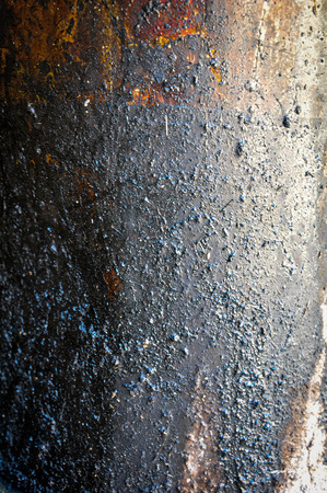 antecedents: Oil stained old grunge iron texture Stock Photo