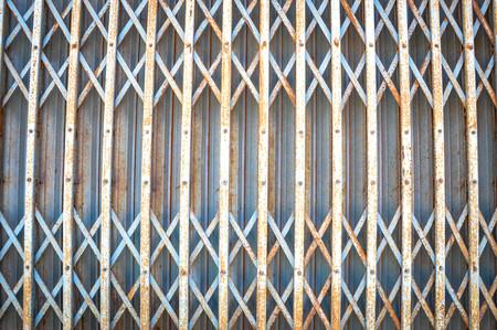 steel door: Rusty steel door