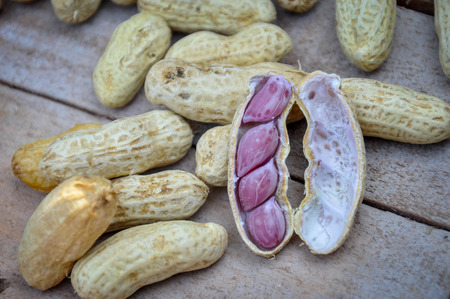 antecedents: Boiled peanuts Stock Photo